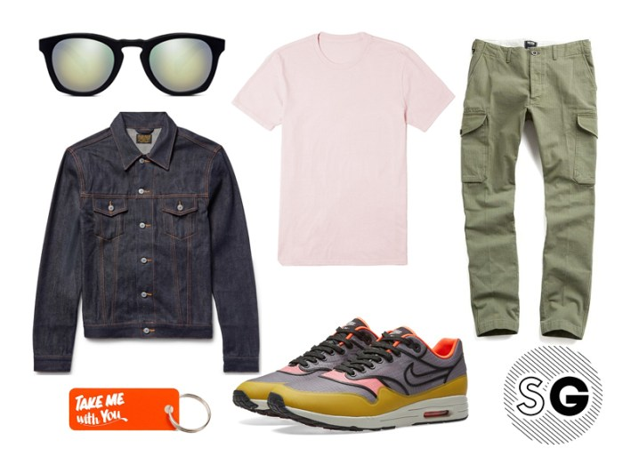 cargo pants, modern cargo pants, nike, various projects, jean shop, denim jacket, spring style, think pink, todd snyder