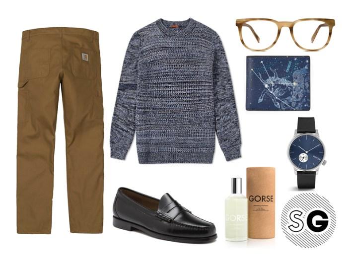 workwear pants, carhartt wip, gorse, warby parker, michael kors, komono, barena, bass