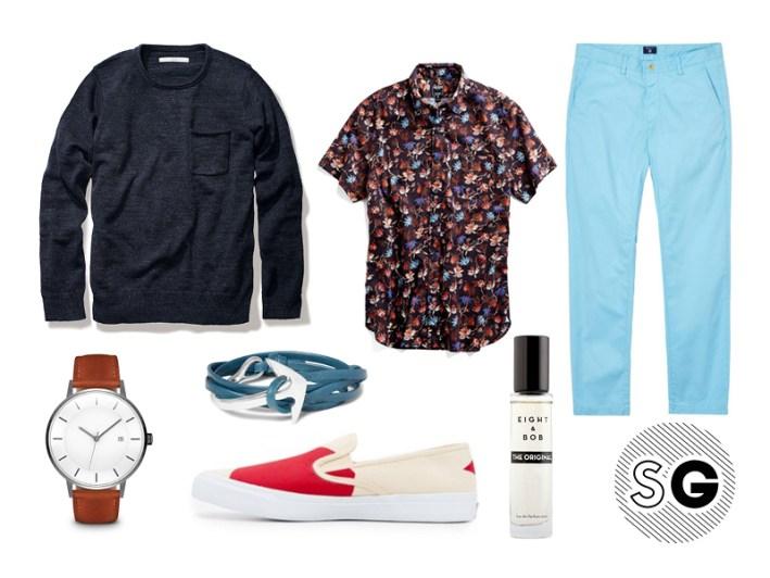 silk shirt, casual, jfk, chinos, gant, outerknown, sperry topsiders, jack spade, linjer, miansai, eight & bob