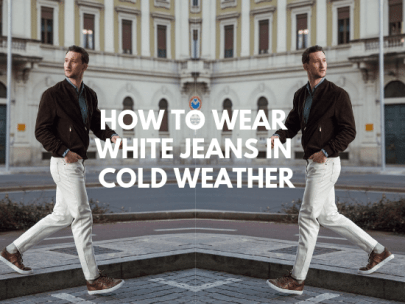 Guys, Here's How to Wear White Jeans in Fall and Winter