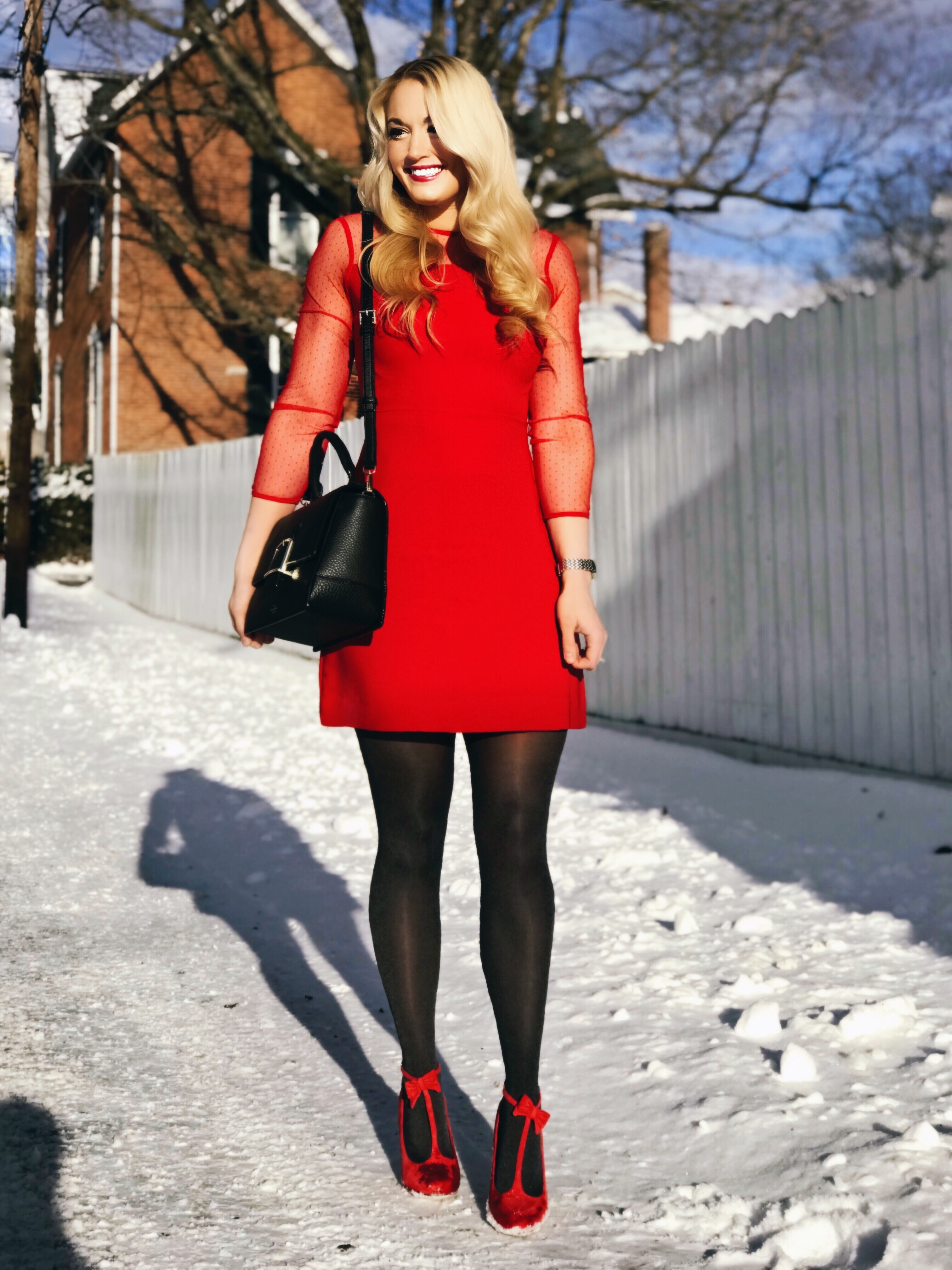Red Dress | Mesh Dress | Valentine's Day Outfit | www.styleherstrong.com