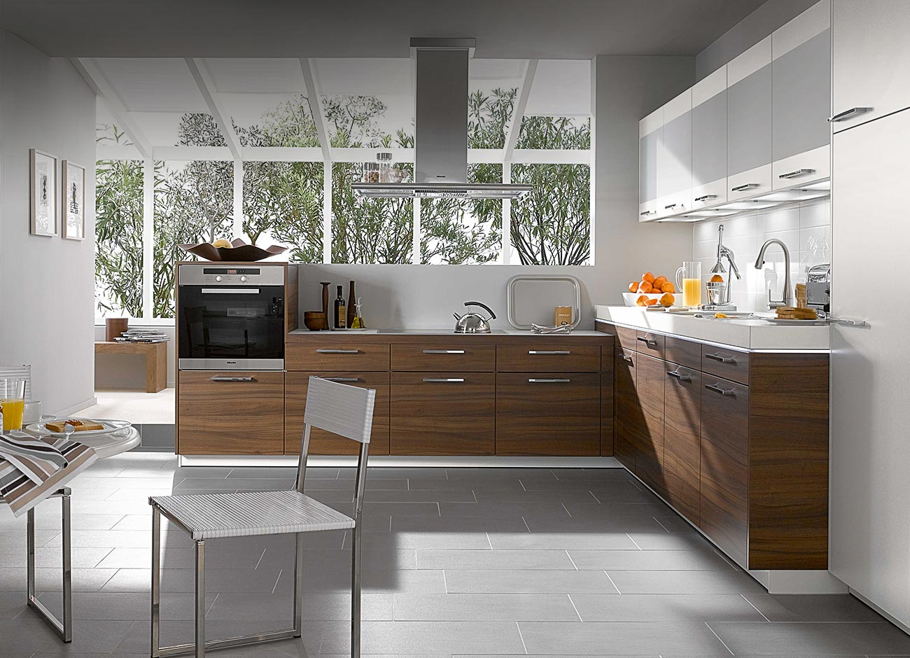 Home Wall Decoration: Compact Kitchen Design