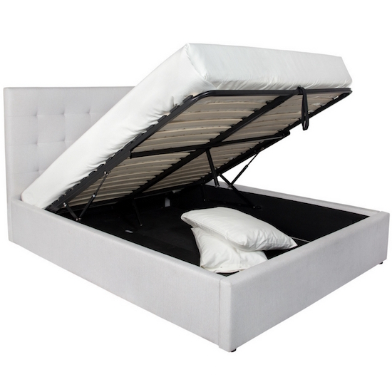 June Queen Storage Bed Horizon Grey Products Style