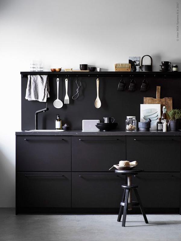 Ikea Küche Front Schwarz   Metod Unterschr F Spüle+2 Türen ...
