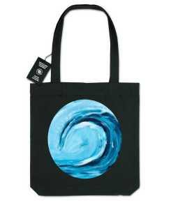 Blue Wave Gerecycleerde Organische Draagtas