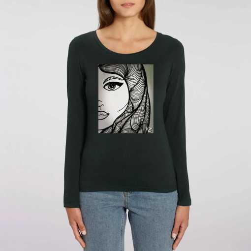 Eye Have U Dames 100% biologisch T-Shirt Met Lange Mouwen