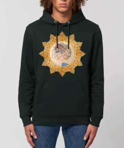 Down and Up Unisex Organic Hoodie