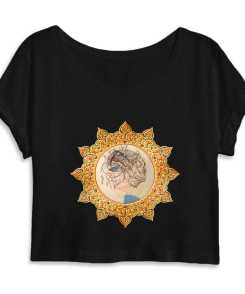 Down and Up Dames Organic Crop Top