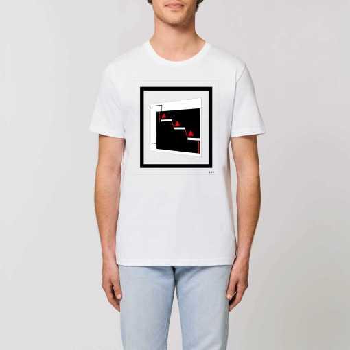 Red Pyramids Unisex T-Shirt - 100% Biologisch Katoen