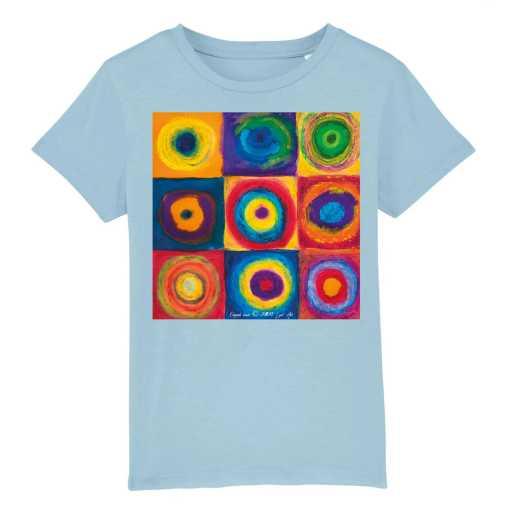 Gekaderde Vrijheid Kinder T-shirt - 100 % Biologisch Katoen