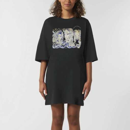 Group Of 3 Dames Dames Oversized T-Shirt Jurk - Biologisch katoen