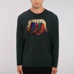 Ghosts Of Mondeli Heren 100% biologisch T-Shirt Met Lange Mouwen