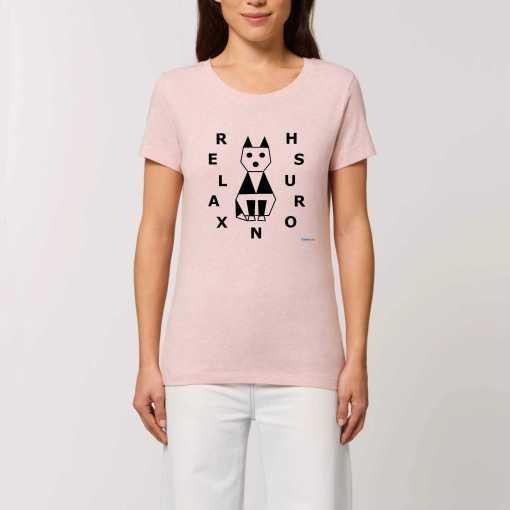 Relaxed Cat Dames T-shirt - 100% Biologisch Katoen