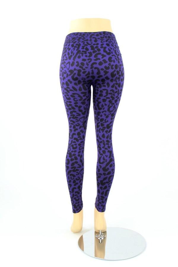 Womens Size Leggings Leopard Animal Print Color Full