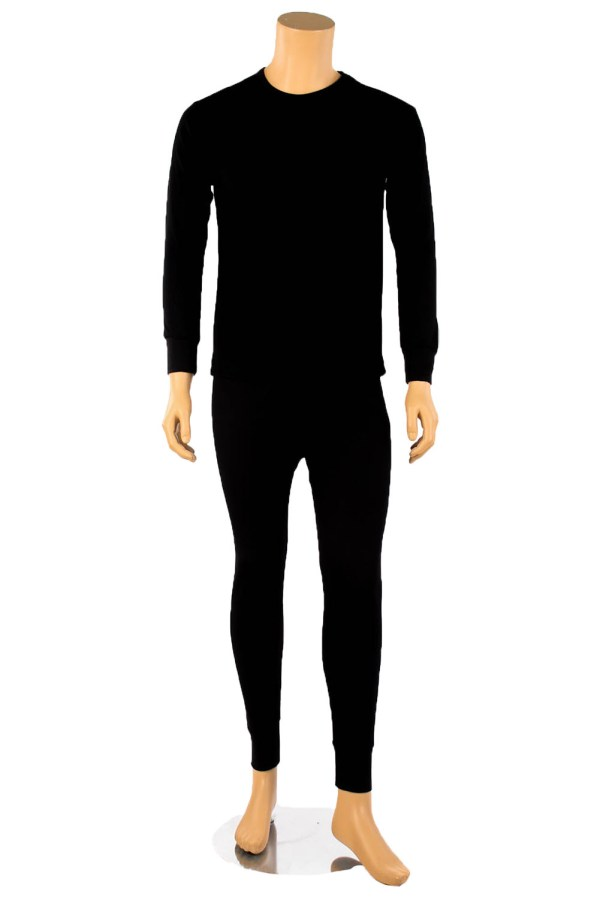 Mens 2pc 100 Cotton Thermal Underwear Set Long Johns Top