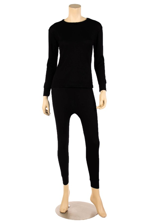 Womens 2pc 100 Cotton Thermal Underwear Set Long Johns