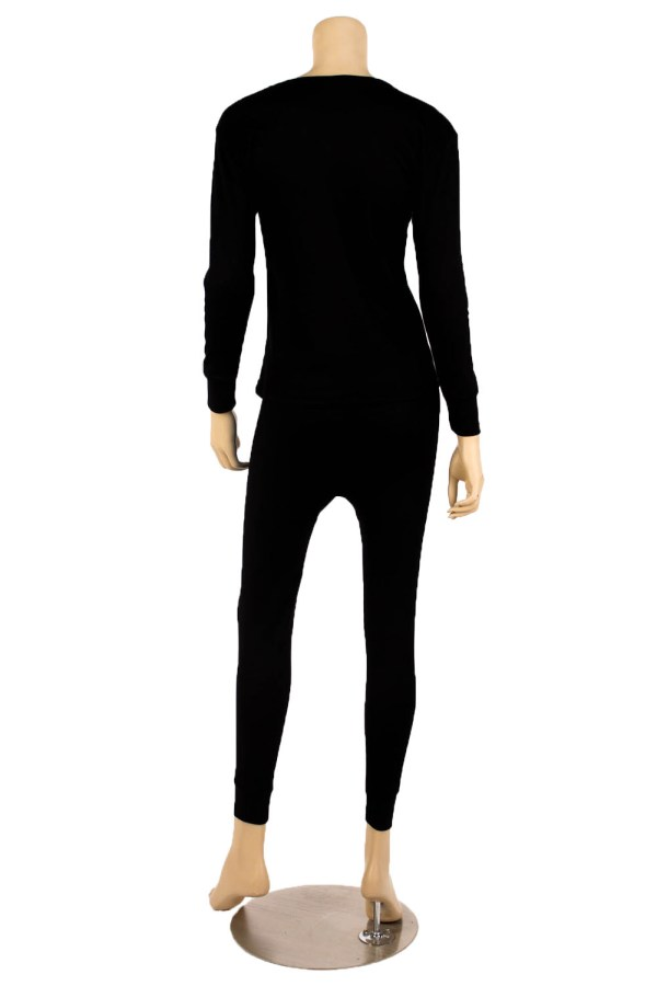 Womens 2pc 100 Cotton Thermal Underwear Set Long Johns Top & Bottom L Xl 2x