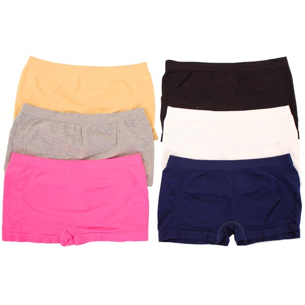 6 Pack Seamless Boyshorts Womens Underwear Panties Stretch Boxer Briefs Size