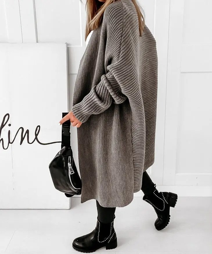 Oversize Damen Strickmantel