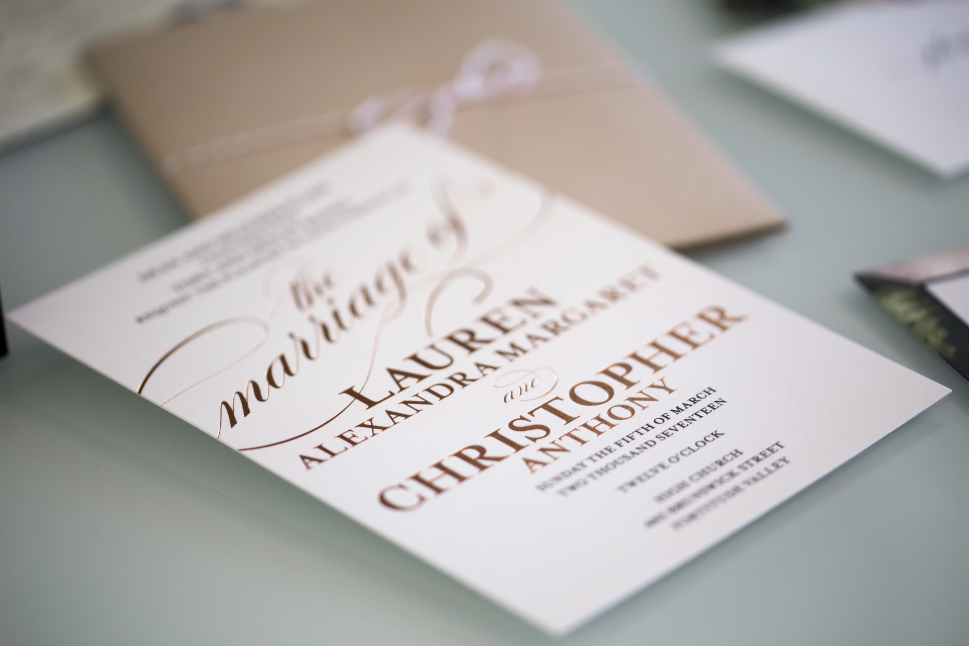 Friday Faves - Our Beautiful Wedding Invitations