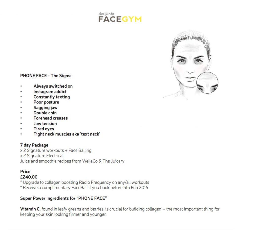 phone face face gym