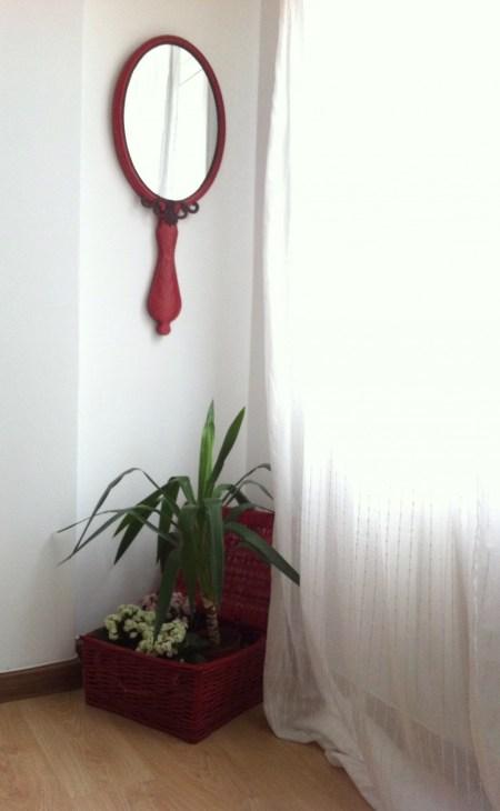 jardín con espejo