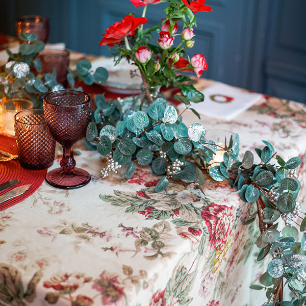 Eucalyptus garland for christmas table