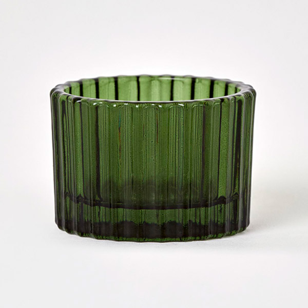 Green candle holder for christmas table