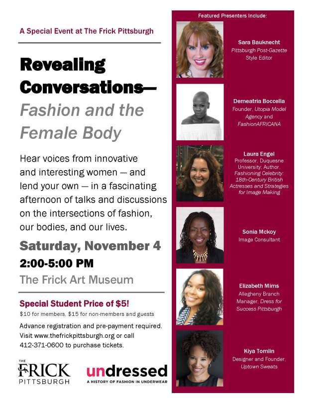 Revealing Conversations at the Frick Pittsburgh, November 4, 2017