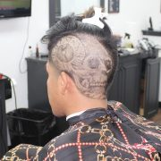 patterned haircut design