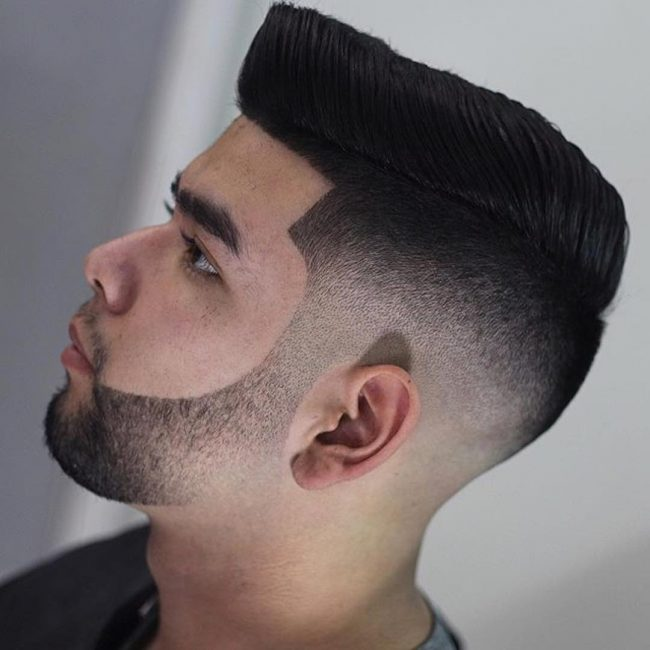 Haircut With Line Fade Slick Razor Side Up Tool