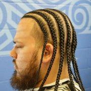 cool men braids long hair