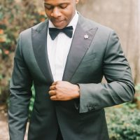 The gallery for --> Grey Suit Black Bow Tie