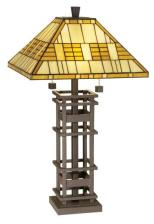 Tiffany Lamp Missioncraft by PCL - Tiffany Lamp Bellevue by uttermost - Available at La-Z-Boy Furniture Galleries of Arizona