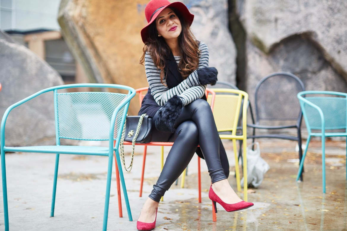 classic-combination-black-red-hat-toryburch-mendocino-clubmonaco-hnm-vest-zara-2