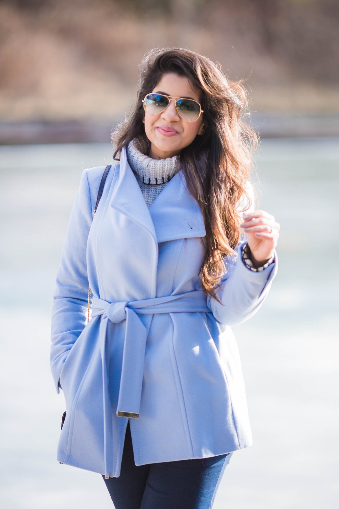 sky-blue-pea-coat-ted-baker-ysl-zara-wide-leg-pants-ray-ben-cold-spring-fashion-blogger-stylist-2