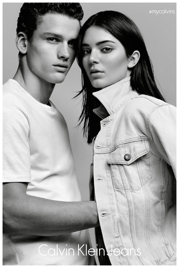 Kendall Jenner and Simon Nessman will star in the new campaign for #mycalvins Denim Series for Calvin Klein.