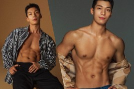 SQUID GAME ACTOR WI HA JOON COVERS THE OCTOBER ISSUE OF MEN'S HEALTH KOREA