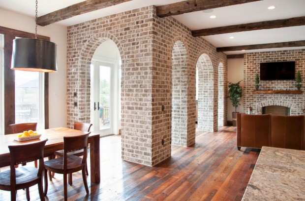 White Painted Fireplace Brick 20 Amazing Interior Design Ideas With Brick Walls - Style