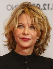 short hairstyle older woman