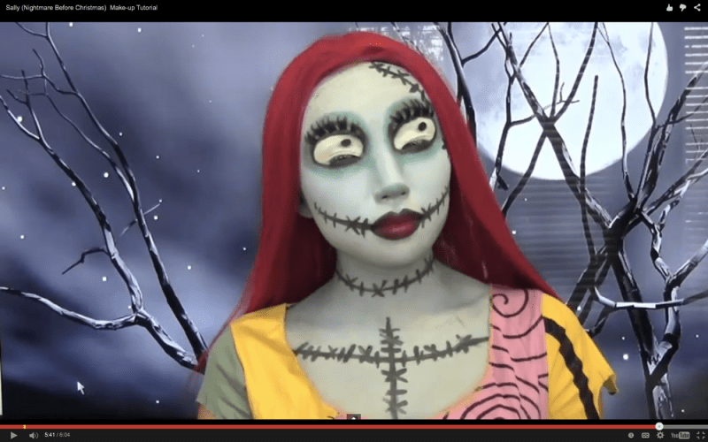 5 crazy makeup tutorials to try hair salon greenwood sally the nightmare before christmas - Sally Nightmare Before Christmas Makeup