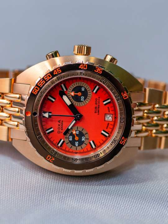 Solid-Gold-Doxa-Watch-Chronograph