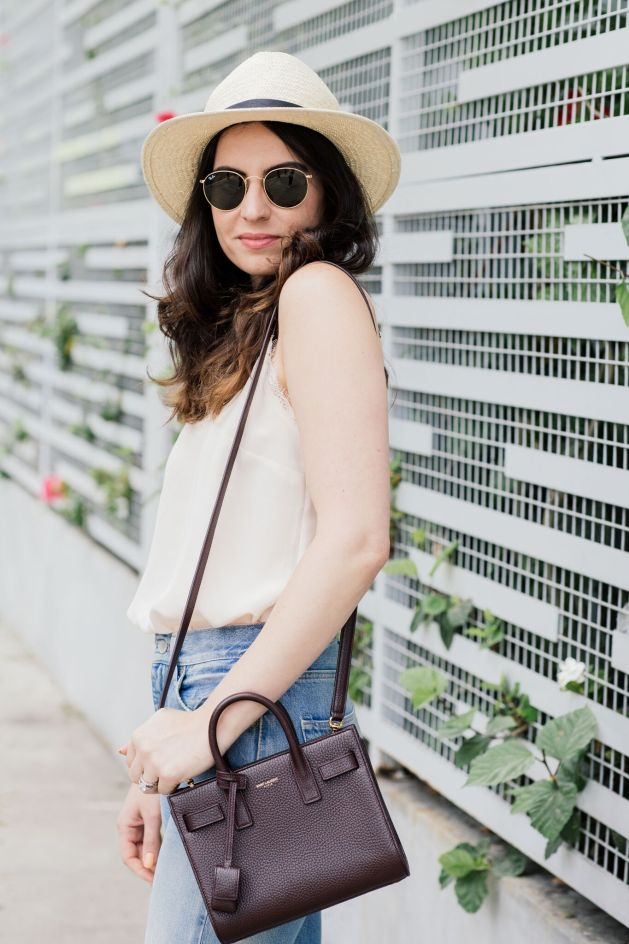 Blogger Style notes by belen wears levi vintage bing with anine bing silk cami and chanel shoes and saint laurent bag
