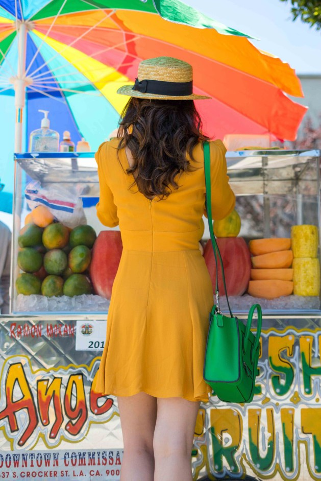 blogger style notes by belen wears reformation dress 1