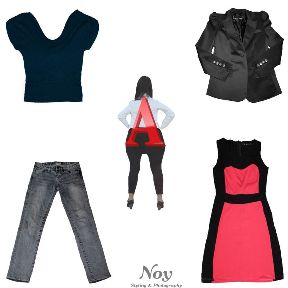 בגדים למבנה גוף A (Large)