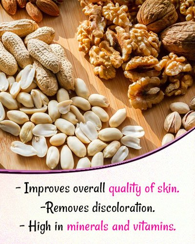 Nuts for Skin Whitening