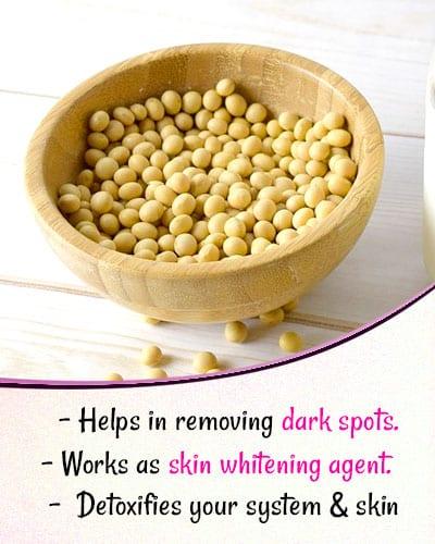 Soyabean for Skin Whitening