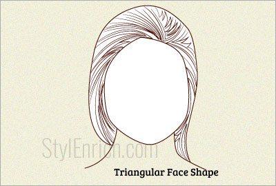 Triangular face shape