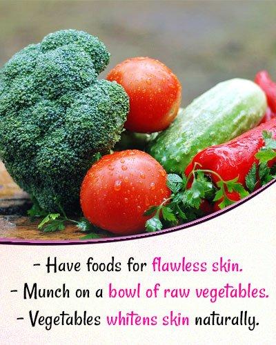 Vegetables for Skin Whitening