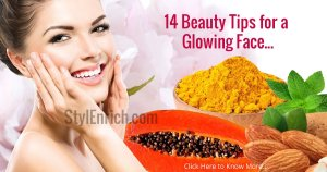 beauty tips for a glowing face.